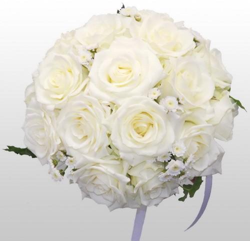 свадебный букет белых цветов