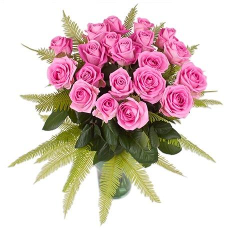 букет ярко-розовых роз