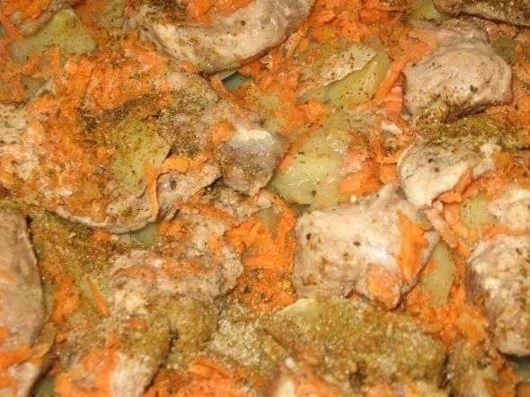 запеканка из картофеля и свинины