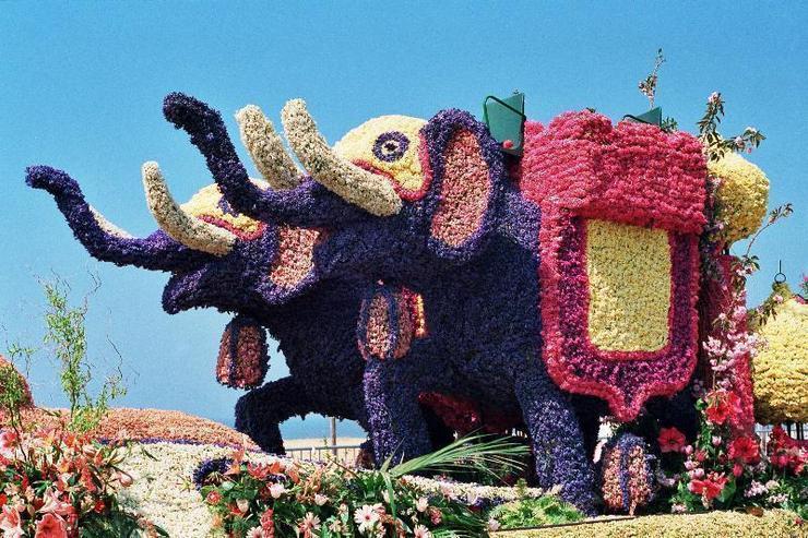 цветочные скульптуры