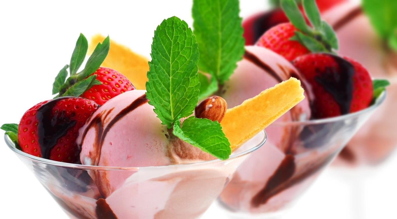 как красиво украсить мороженое фото