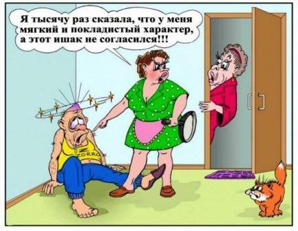 анекдоты про семейные отношения