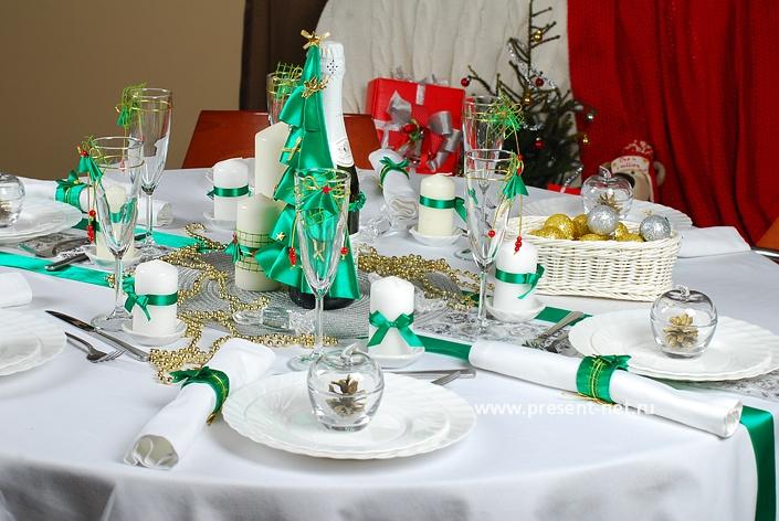 как красиво украсить новогодний стол фото