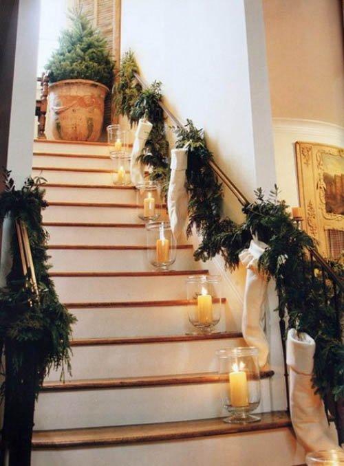 украшение лестницы на новый 2014 год