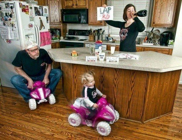 роль папы в воспитании ребенка, смешные фото