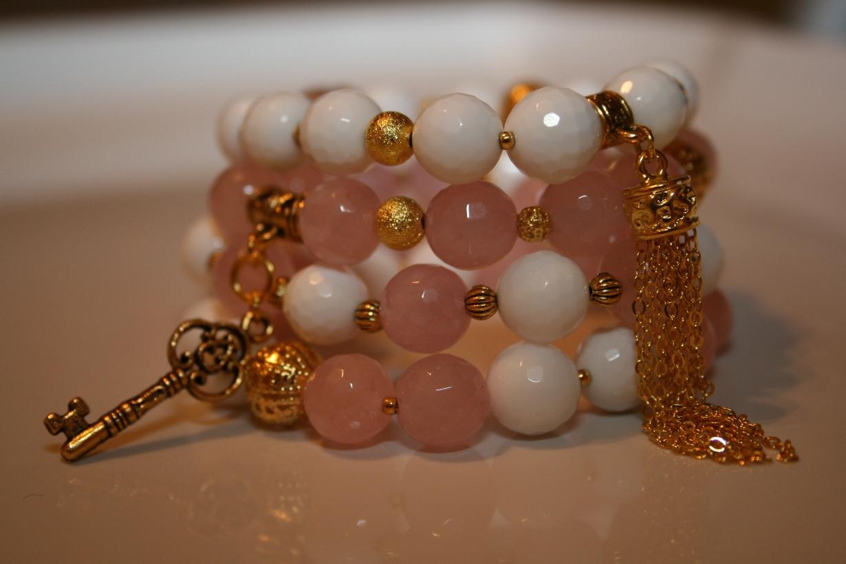модные браслеты 2014 с натуральных камней