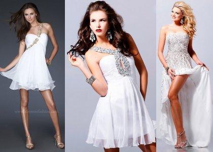 Модные белые платья 2014