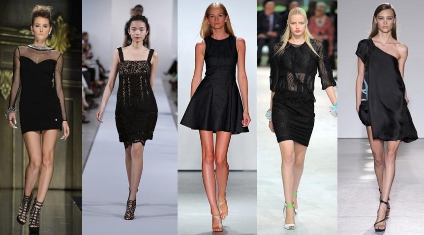 модное маленькое черное платье