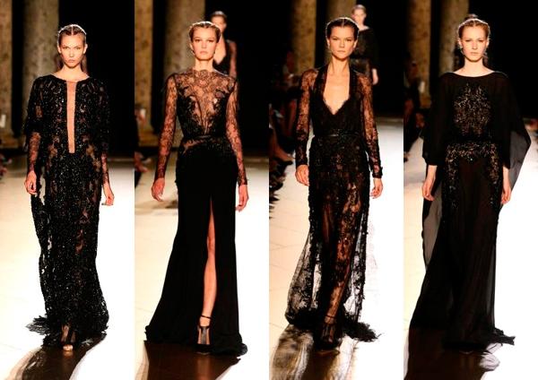 модное черное платье вечернее