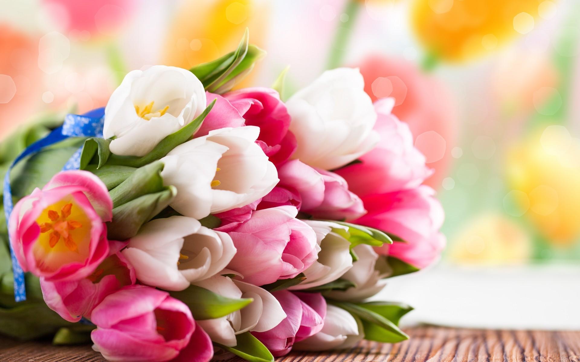 весенний букет тюльпаны