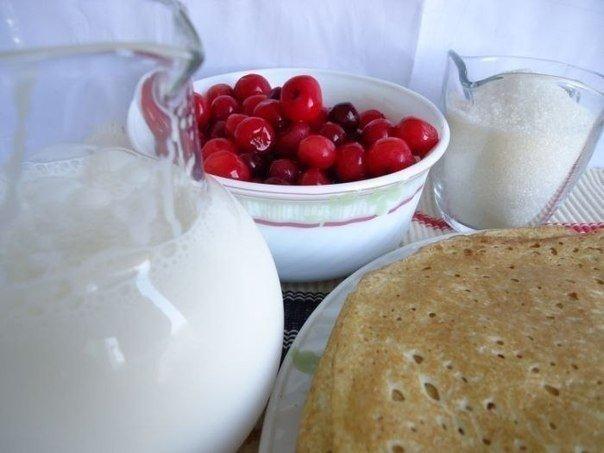 пошаговое приготовление блинного торта