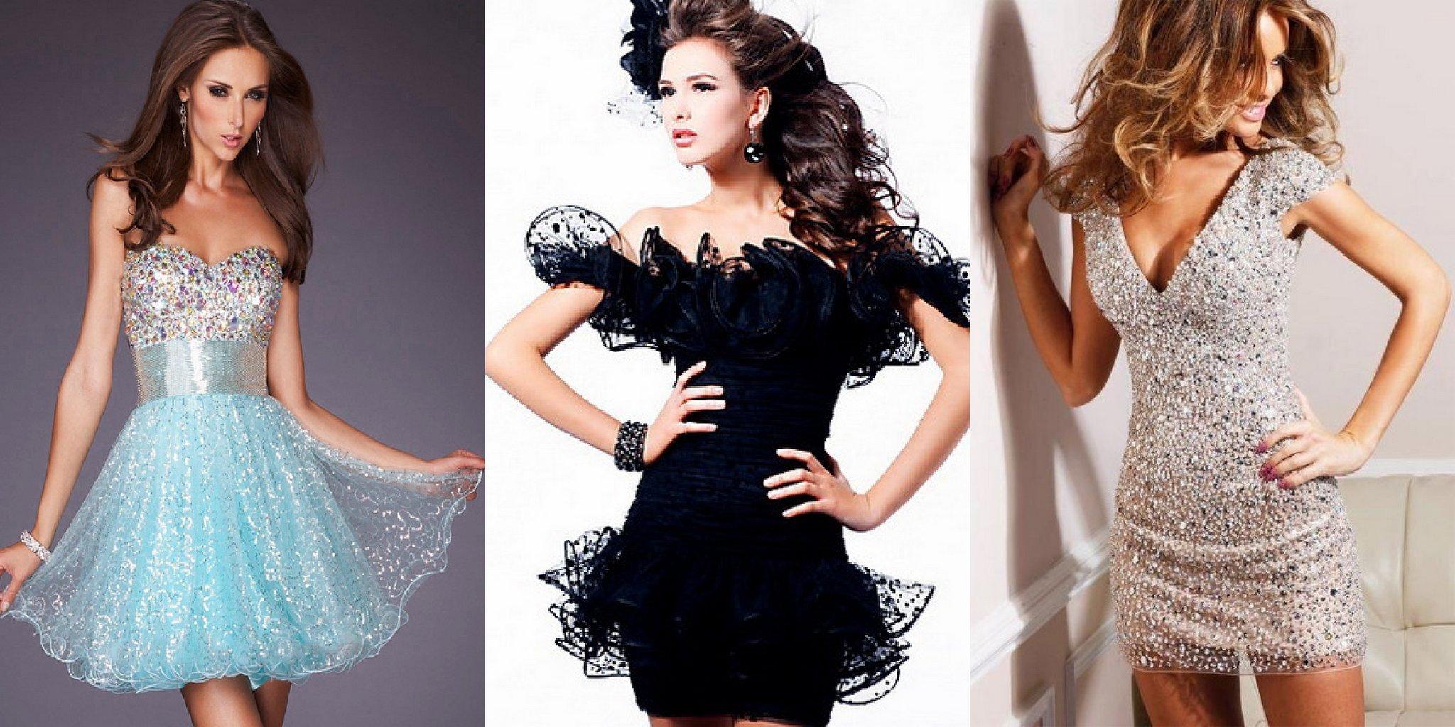 короткие платья на новый 2015 год