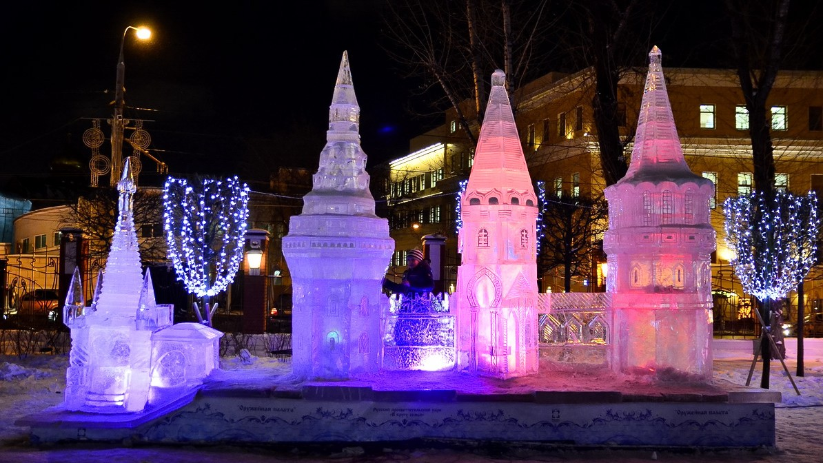 ледяные скульптуры в Москве