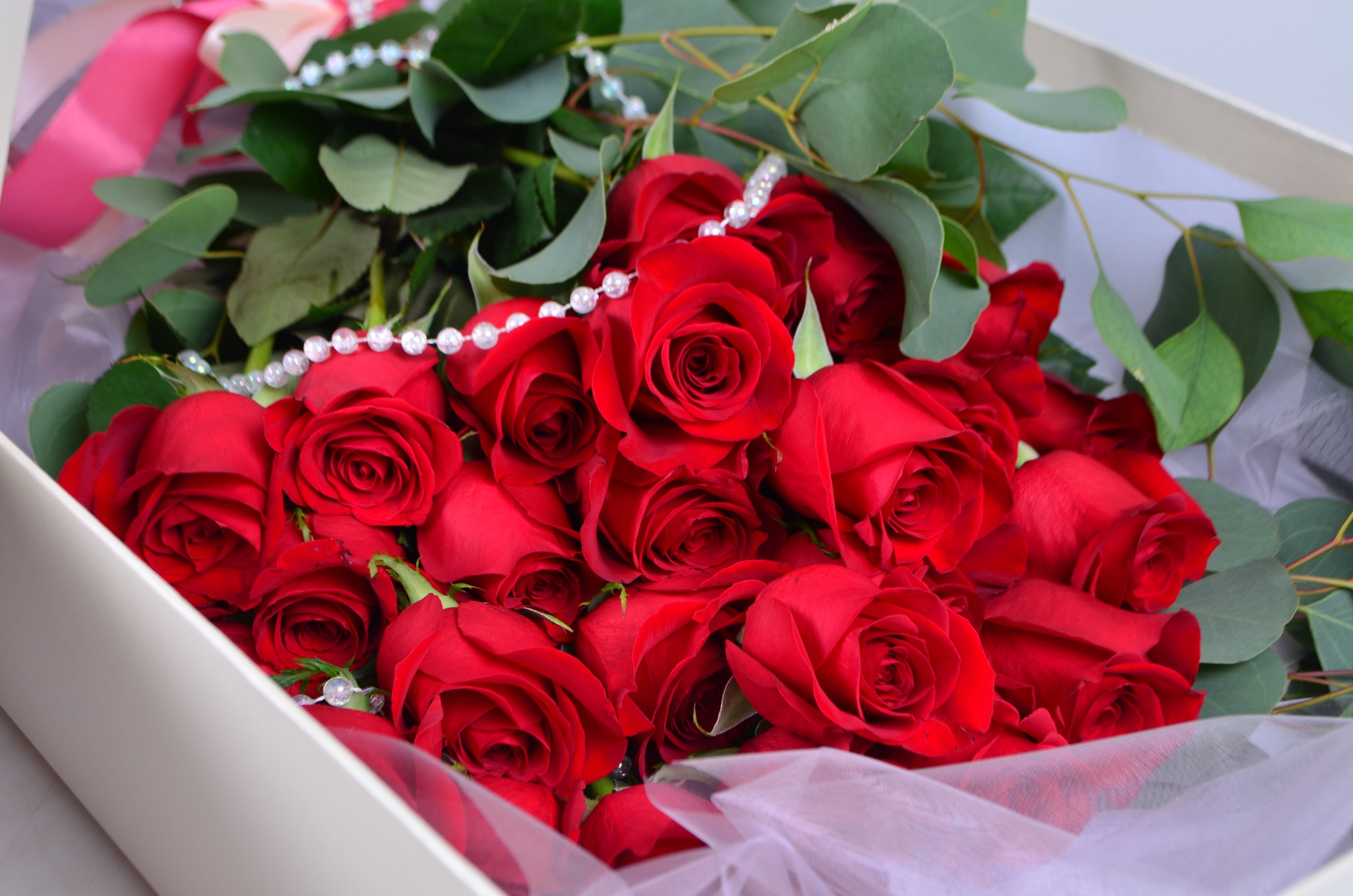 Букет роз большой красивый