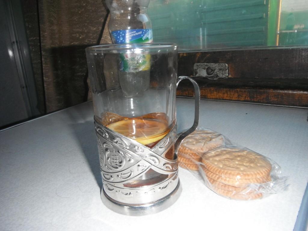 чай с лимоном в поезде