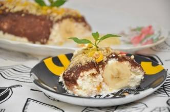 десерт банан под шубой