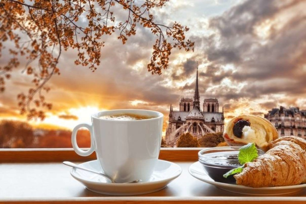 утро, кофе