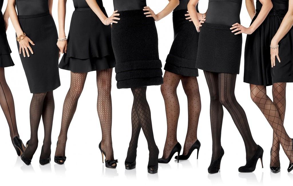 черные колготки мода 2017