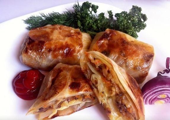 постные блюда с грибами - голубцы