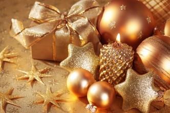 подарки, новогодние игрушки, украшения