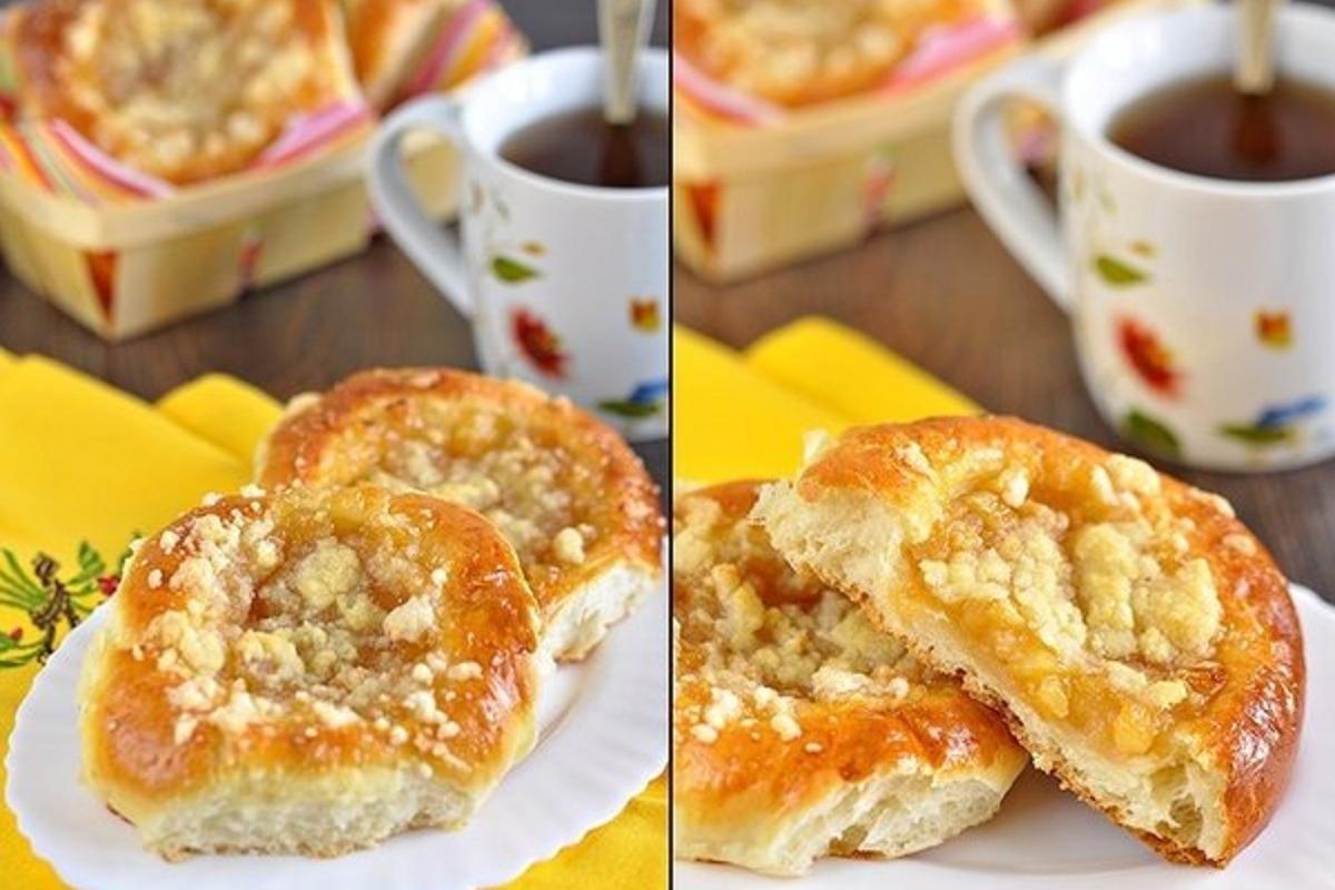 Ватрушки с яблоками - рецепт пошаговый с фото