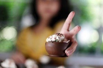 корзинки-пирожные из шоколада
